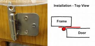 Cabinet Hinges Installed Surface Mounted Overlay Hinge Cabinet