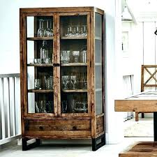 wood cabinet with glass doors wooden reclaimed display modish living solid oak tv wood cabinet with glass doors