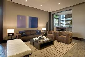 modern interior office. Wonderful Modern Homes Interior Designs : Contemporary Clovelly House Design With Comfort Brown Bludru Office