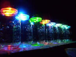 color changing solar mason jars