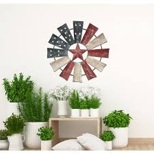 They're not difficult to maintain. Alpine Corporation Patriotic Windmill Wall Decor Yhl430hh The Home Depot