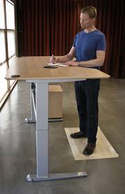 tall chair for standing desk wood