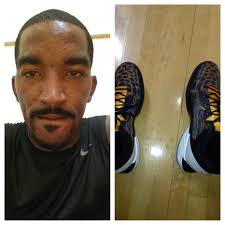 On his feet were the latest release in the Nike Zoom Kobe 7 which was the 'Cheetah [...] - jr-smith-cheetah