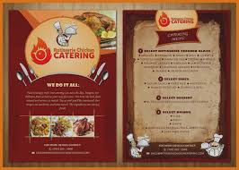 Unique Catering Flyer Template Menu Design Pinterest Fly On Free