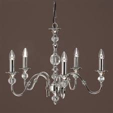 polina medium 5 light dual mount chandelier in a polished nickel finish