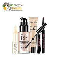 bioaqua makeup set lip balm bb cream eyebrow pencil mascara cream base