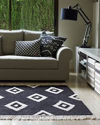 Machine Washable Rugs For Living Room Lorena Canals Machine Washable Rug Black And White Diamonds