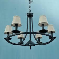 black wrought iron chandelier rustic 6 light fabric shade black wrought iron chandeliers black wrought iron