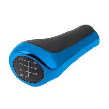 Blue Color 6 Speed Manual MT Gear Stick Shift Knob Lever Head Cap ...