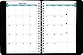 Academic Daily Planner Brownline 2018 2019 Appointment Book Academic Daily Planner 8 X 5