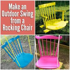 diy rocking chair swing