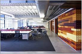 office space design interiors. Creative Office Space With Large Layout And Lego Wall Industrial Style Inspiring Interior Design Interiors G