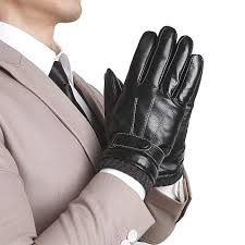 Kege Mens Winter Warm Texting Driving Touchscreen Italian Nappa Genuine Leather Gloves Cashmere Wool Or Fleece Lining