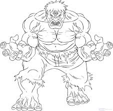 the incredible hulk coloring pages free