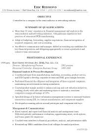 Sample Resume Controller pg 1 ...