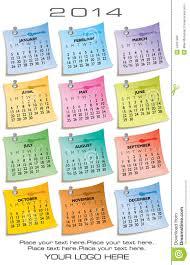 Customizable Calendar 2015 2014 One Page 12 Month Calendar Stock Vector Illustration