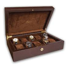 rapport portman 10 watch collector case brown leather l265