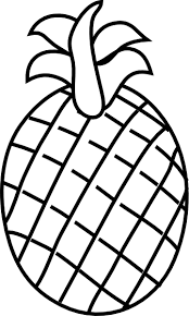 black and white pineapple png. pineapple black and white clip art at vector png a