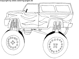Free Car Coloring Pages Monster TRuck In - glum.me