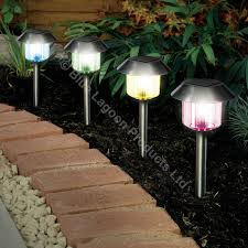 Colour Changing Solar Garden Lights Details About 12 X Colour Changing Solar Power Light Led Post Outdoor Lighting Powered Garden