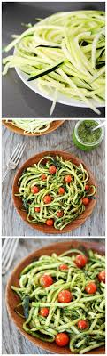 zucchini noodles with pesto on teasandtheirpod love these healthy noodles fun to make