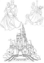 Petits Coloriages Cendrillon Chateau Prince Manege Disney