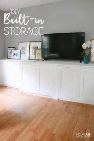 custom built in storage console