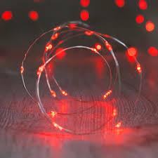 fairy lighting. red fairy lights lighting