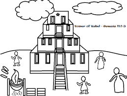 Small Picture Tower Babel Coloring Pages Hicoloringpages Gekimoe 99618