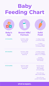 How Much Formula For Newborn Chart The Best Baby Feeding Schedule With Baby Feeding Chart