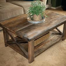 rustic coffee table set furniture oak reclaimed wood