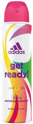 """Adidas <b>Дезодорант</b>-<b>спрей</b> """"Get Ready! Cool & Care"""", <b>женский</b>, 150 ..."""