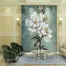 Bravotticom Backsplash Puzzle Tiles Hand Made Flower Tile Crystal Glass Mosaic  Wall Murals Patterns