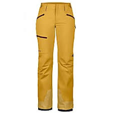 Marmot Ski Pants Size Chart Marmot W Refuge Pant Yellow Gold