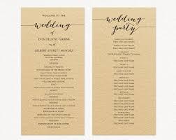 Templates For Wedding Programs Wedding Program Template Wedding Program Cards