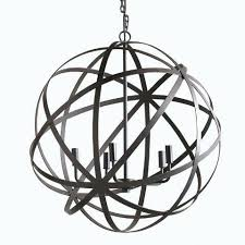 black orb chandelier large metal orb chandelier world market black wrought iron globe chandelier