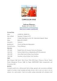 Andryaas Project Manager Cv 2012. CURRICULUM VITAE Andryaas Mamuaya ...