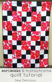 Marimekko & Monochrome Quilt Tutorial - Sew Delicious & marimekko quilt tutorial 1 Adamdwight.com