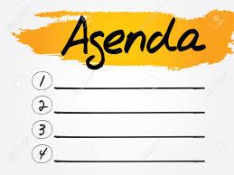 Agenda List Agenda Blank List Vector Concept Background Free Clipart