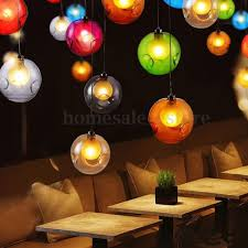 colorful pendant lantern light modern multi color glass bubbles pendant light chandelier