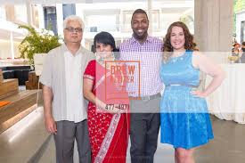 Paresh Patel with Heena Patel, Charles Farrier and Stephanie Fields