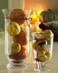 mini pumpkins glass vases fall decor home ideas