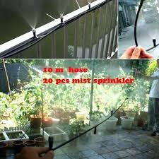 best outdoor cooling system 4 hose mist sprinkler garden misting nozzle outdo
