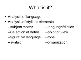 passage analysis essay ppt video online  what is it analysis of language analysis of stylistic elements