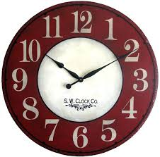 36 wall clock inch large wall clock antique style red cream le french country big round 36 wall clock