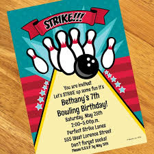 Bowling Invitation Amazing Bowling Personalized Invitations Bowling Birthday Party