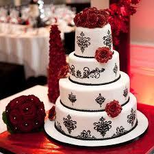 Winter Wedding Black And White Cake