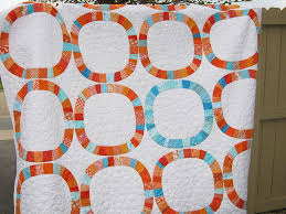41 best Inspiration for Single Girl quilt images on Pinterest ... & Orange Aqua Single Girl Quilt by Ann Sands of Celia Blue Quilts. Pattern by  Denyse Schmidt. Adamdwight.com