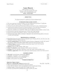 Network Administrator Resume Example Emelcotest Com