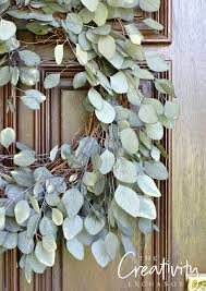 diy eucalyptus front door wreath the creativity exchange